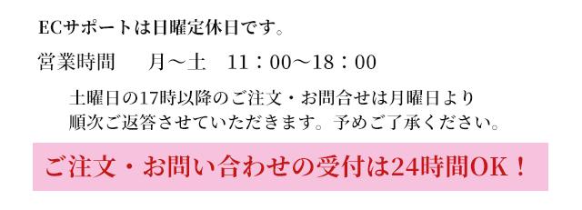ECサポート営業時間月曜〜土曜日