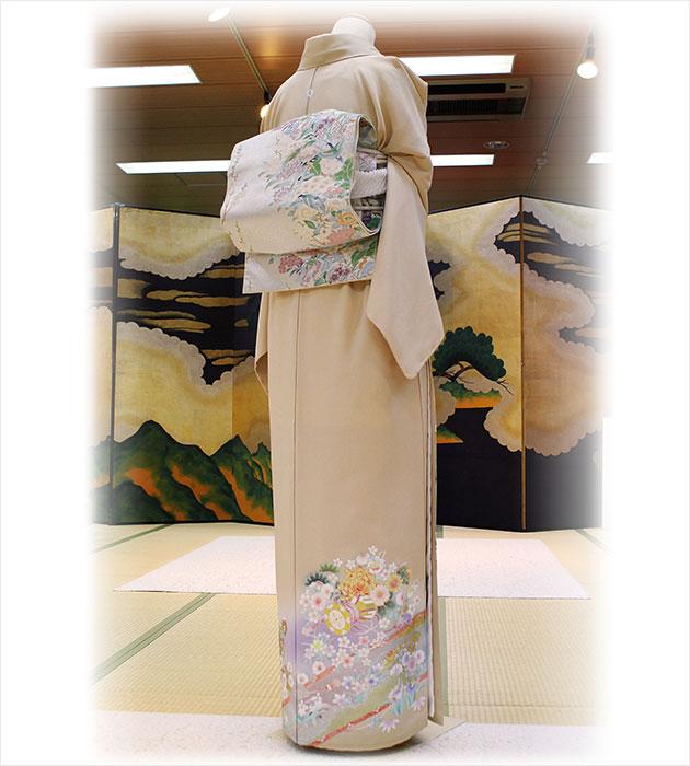 色留袖レンタル/結婚式/卒業式/色留袖/レンタル/クリーム金彩熨斗/往復送料無料