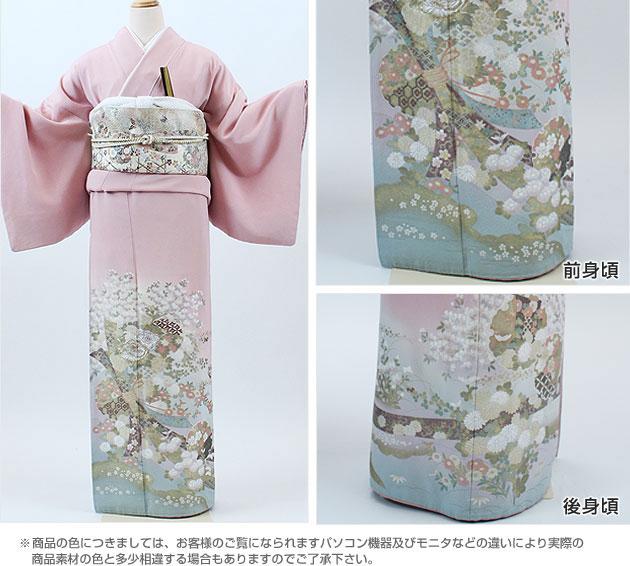 色留レンタル/結婚式/色留袖/レンタル/ベージュ雪輪/往復送料無料