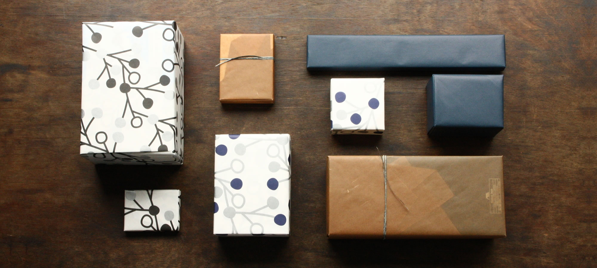 オリジナル包装紙とオリジナルメッセージカード