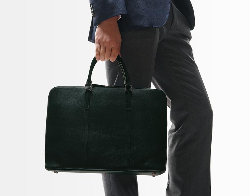 スリムビジネスバッグ(スクエア)   ビジネスレザーファクトリー