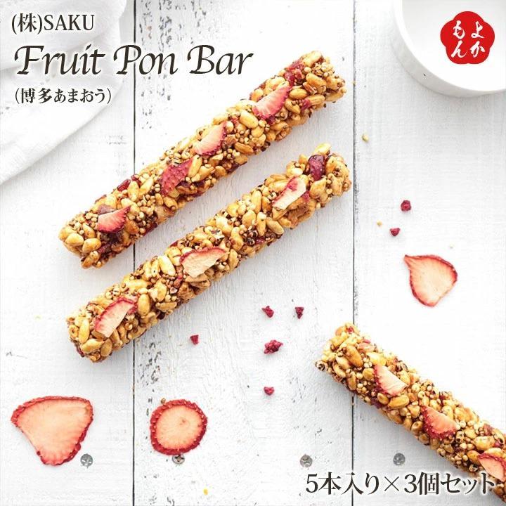 Fruit PON Bar5本入り(博多あまおう)×3箱