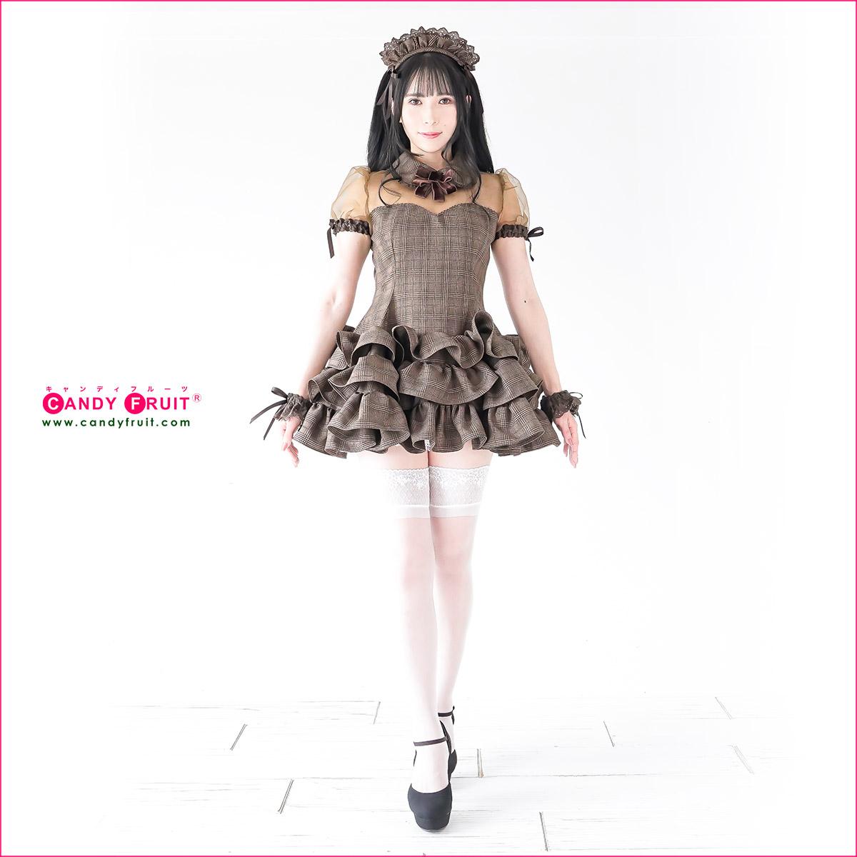 JILL×キャンディフルーツコラボ♪★グレースメイド服(アールグレイ)レディース 半袖 ブラウン 茶 Mサイズ