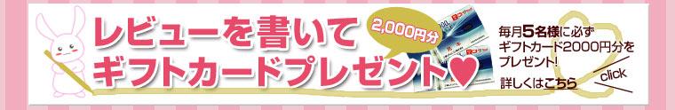 レビューを書いてギフトカード2000円分  プレゼント!