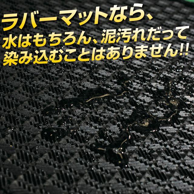 ラバーマットなら、水はもちろん、泥汚れだって染み込むことはありません!!