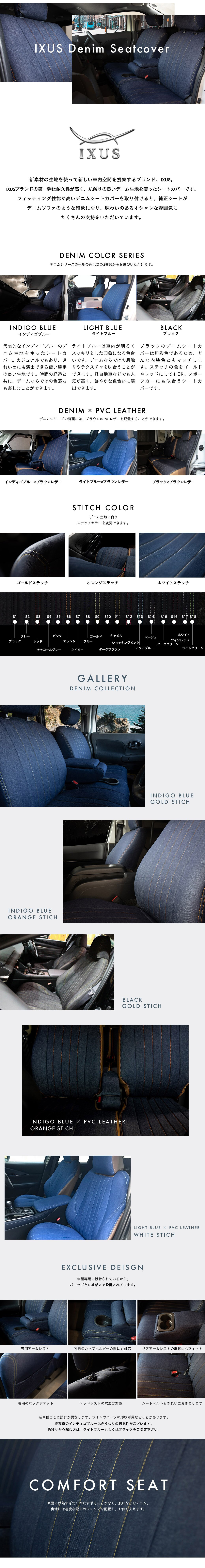 IXUS DENIM Seatcover