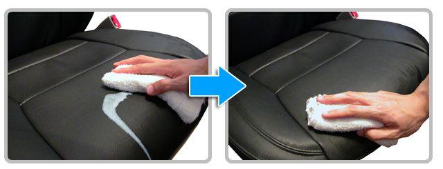 シートの汚れ防止。簡単に拭き取れるシートの汚れ。