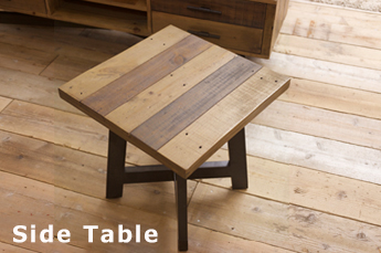 無垢パイン材サイドテーブル