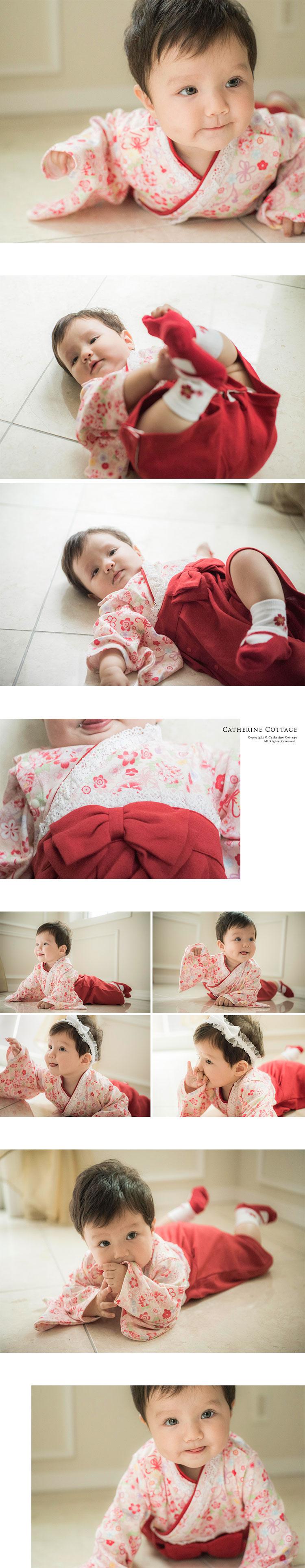 袴 ロンパース 女の子 赤ちゃん ベビー 和装 和服 赤 紫 和風 衣装 コスプレ