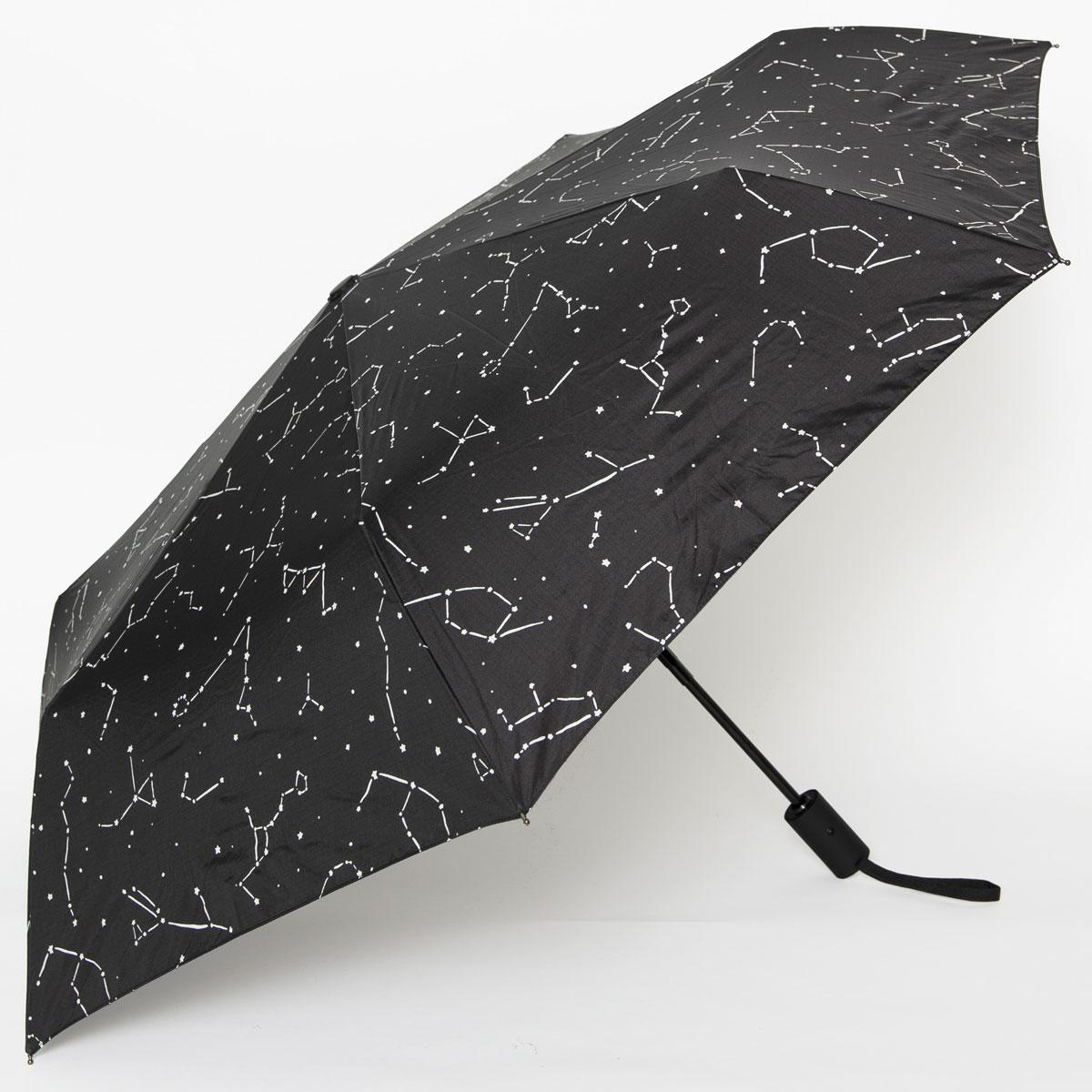 折りたたみ傘 BAGGU UMBRELLA AUTO レディース メンズ 男女兼用 自動開閉式 折り畳み傘 バグゥ アンブレラオート コンステレーション(星座)