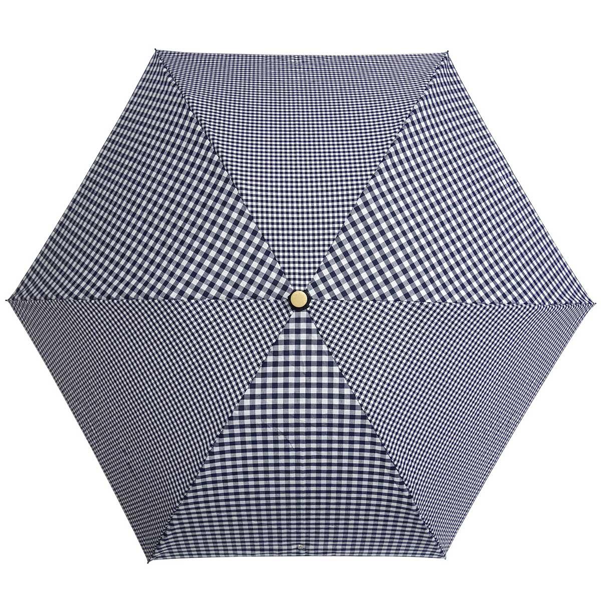 晴雨兼用傘 +RING coco 50cm 折りたたみ傘 レディース 折り畳み傘 日傘 雨傘 日傘 雨傘 プラスリング 折傘 女性用 T669 ギンガムブラック