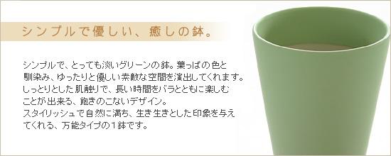 シンプルで優しい、癒しの鉢。