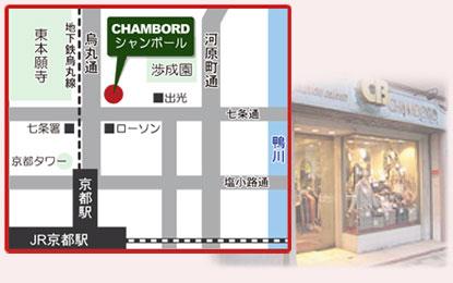 店舗の地図と店舗の画像