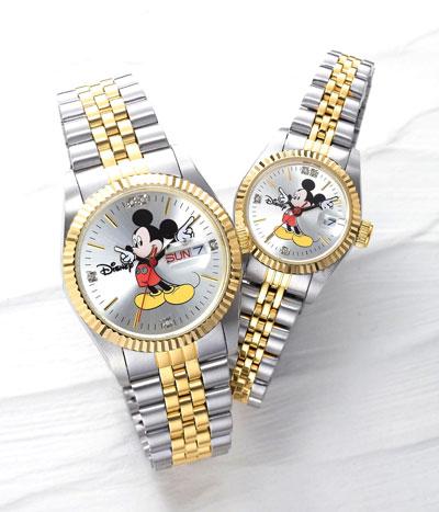 ミッキー世界限定天然ダイヤモンド時計