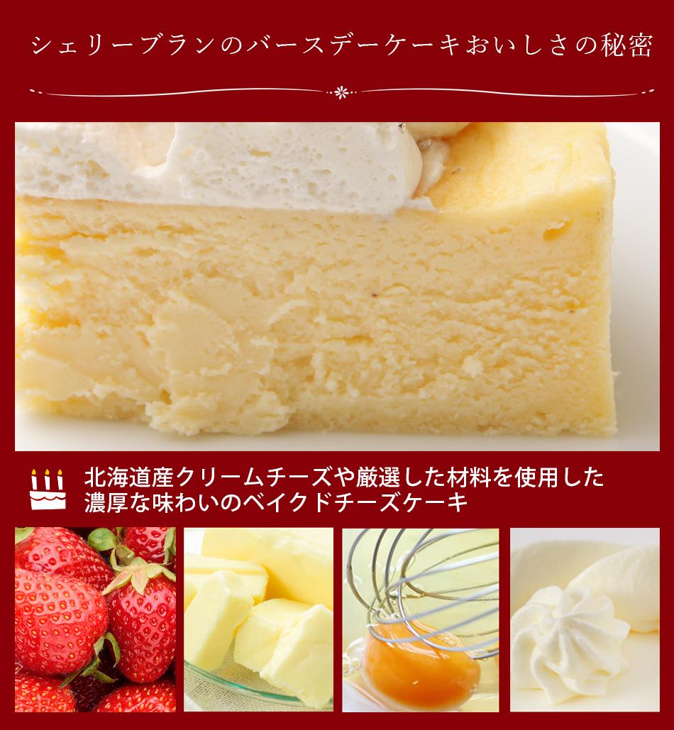 シェリーブランのバースデーケーキ チーズケーキ4号