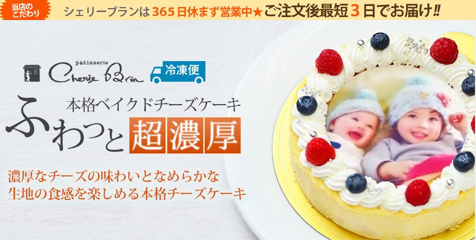 チーズケーキの写真ケーキ