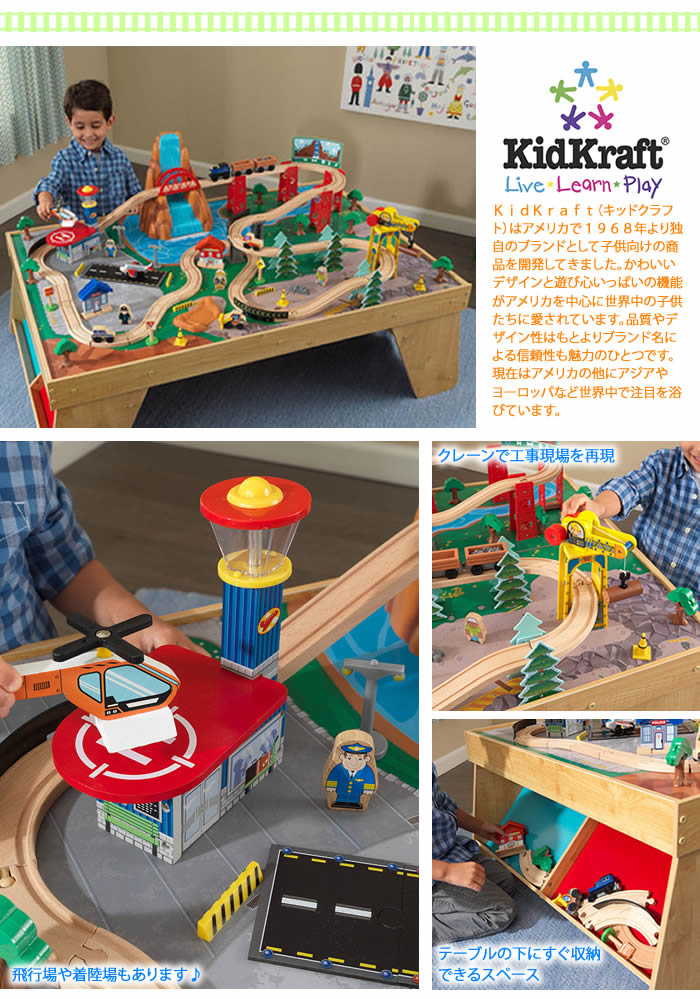 KIDKRAFT Train Table 100 Popular KIDKRAFT, Kid Craft Train Table Set Has  Just Arrived In The United States. Table Of Large Cars, Airport, Airport  And Train ...