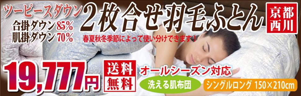 京都西川ツーピースダウン