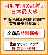 羽毛布団の品揃え日本最大級