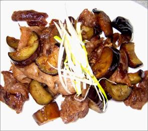 原様のレシピ「牛スジとナスの甘辛炒め 」