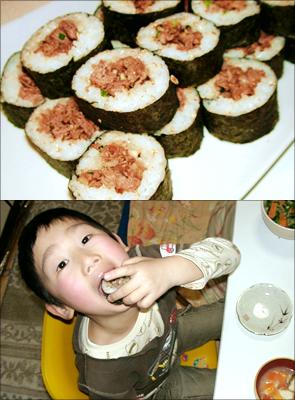 玉水様のレシピ「牛巻き寿司」