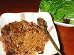 岡田様のレシピ「牛肉と春雨のサニーレタス包み 」