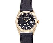 ロレックスデイトジャスト Ref.1601/8 14K イエローゴールド ブラックミラーダイアル 1964年 107番 スターダスト