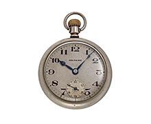ウォルサム鉄道時計 610番 7石16サイズ 銀色金属文字盤 鉄道省 門昭参 285 1927(昭和3)年