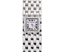 カルティエミニ パンテール リュバン Ref.WG3002T8 ホワイトゴールド ダイヤモンド入りベゼル ホワイトシェルダイアル 2000年代