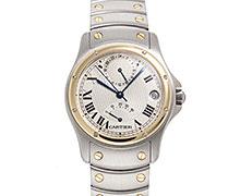 カルティエサントス ラウンド GMT 150周年記念 Ref.W20038R3 コンビ SS/YG シルバーダイアル 1847個限定 1997年