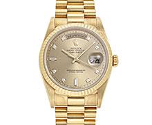 ロレックスデイデイト Ref.18238A イエローゴールド ダイヤモンド入りゴールドダイアル(8ラウンド2バケット) 1994年 W番 トリチウム
