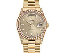 ロレックスデイデイト Ref.18388A イエローゴールド ダイヤモンド入りケース/ベゼル ダイアモンド入りゴールドダイアル(8ラウンド2バケット) 1995年 W番 トリチウム