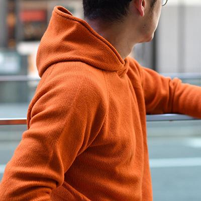 MOTHER HAND artisan【マザーハンド アルチザン】フードパーカー ウール オレンジ