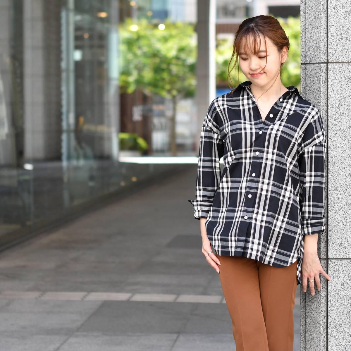 Finamore【フィナモレ】ビッグシルエットシャツ A2017 01 GRACE LISA コットン ブラック ホワイト