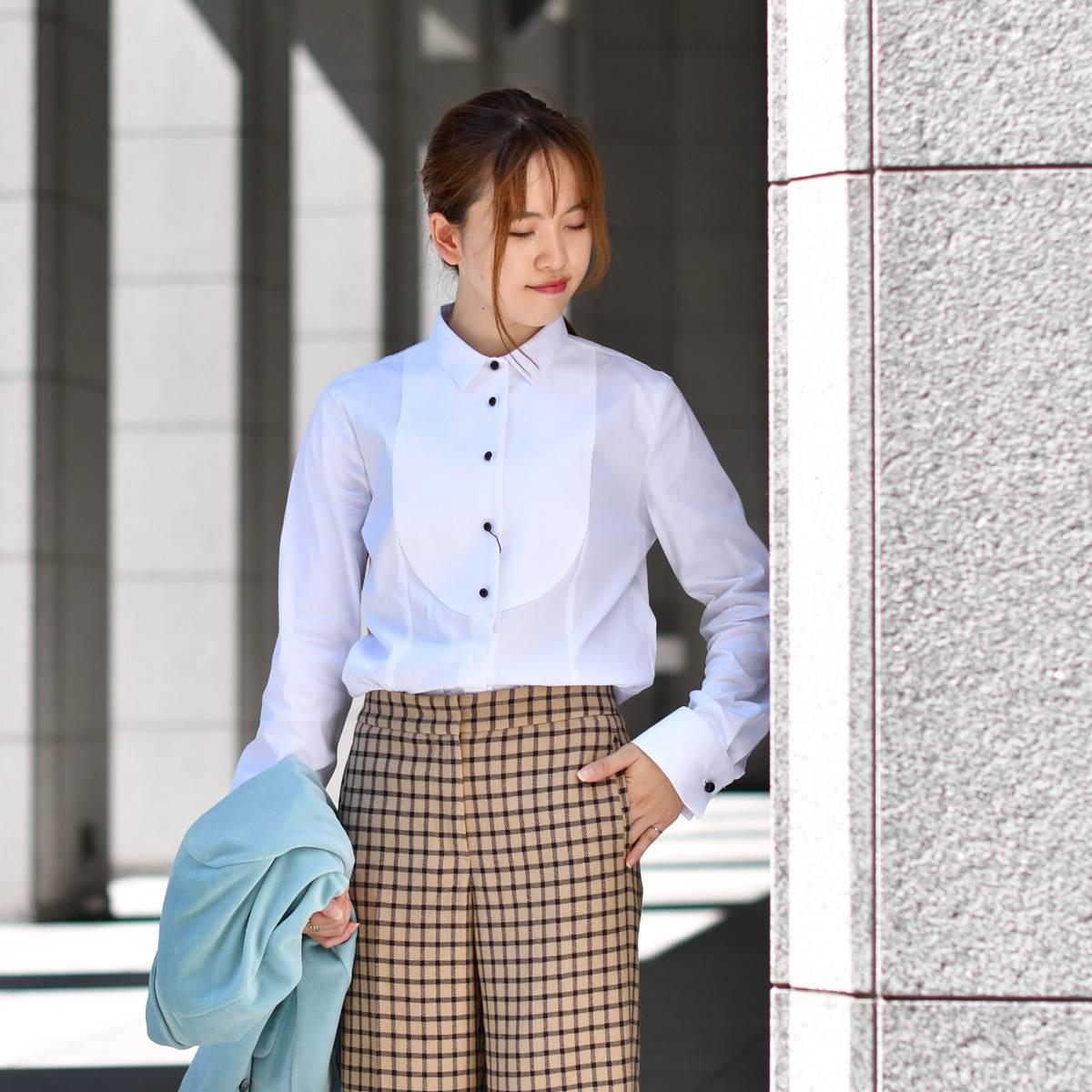 Bagutta【バグッタ】ブザムシャツ SHANA CN0672 001 コットン ナイロン ホワイト