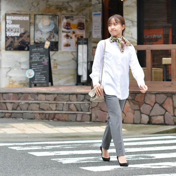 Bagutta【バグッタ】バンドカラーシャツ G_NLERA CN672 001 コットン ナイロン ホワイト