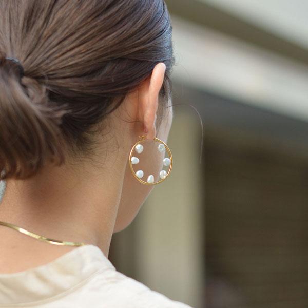 MARIA BLACK【マリアブラック】ピアス Secret Garden 35 Hoop Pierced Earring 100714YG-35 ゴールド