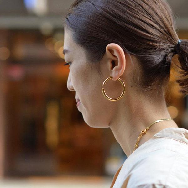 MARIA BLACK【マリアブラック】ピアス Disrupted 40 Pierced Earring 100480 ゴールド