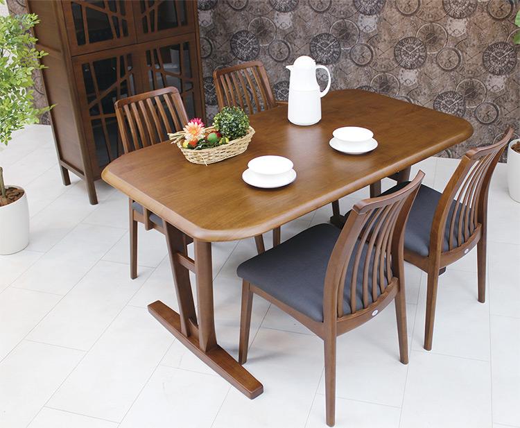 幅160cm ダイニングテーブル 2本脚カラー2色 長方形 テーブル ウレタン塗装 テーブル 木製 サイズオーダー シンプル ベーシック ナチュラル 快適生活EVO エボ