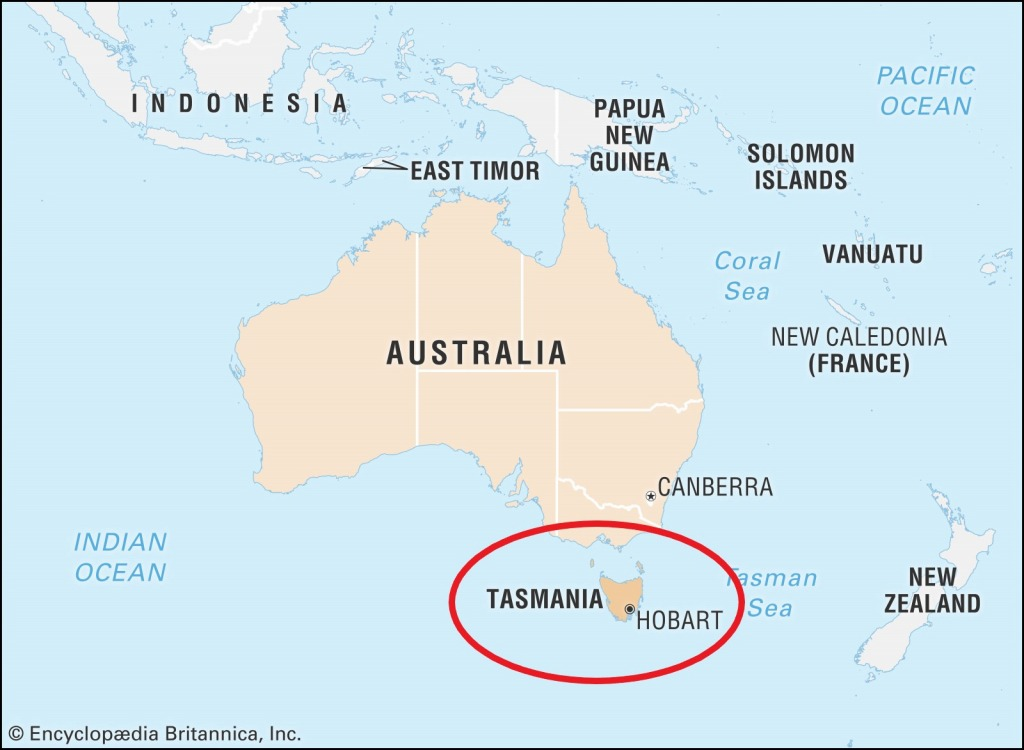 オーストラリア全土の地図
