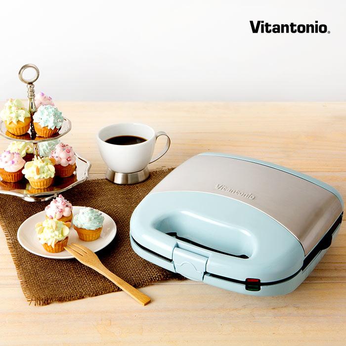 ビタントニオ ワッフル&ホットサンドメーカー カップケーキプレート付き限定モデル