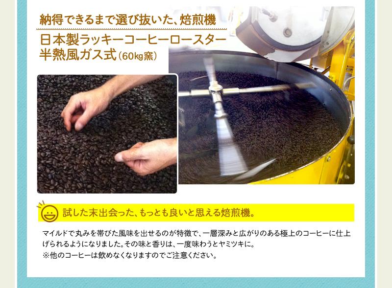 日本製ラッキーコーヒーロースター半熱ガス式