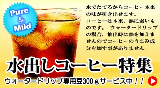 <ウォータードリップコーヒー特集>水出しコーヒー器具がお買い得!!