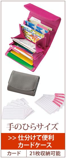 仕分けて便利カードケース