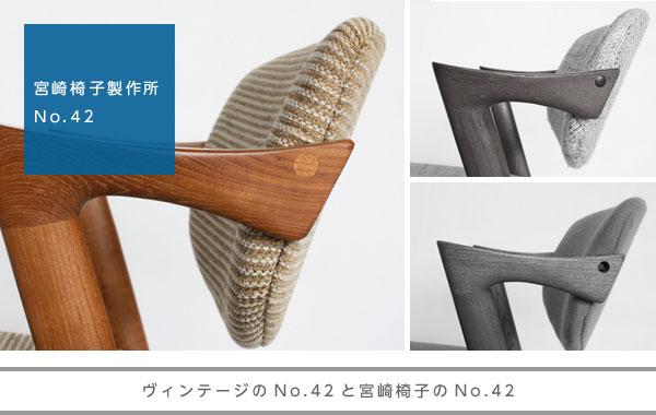 ヴィンテージのNo.42と宮崎椅子のNo.42