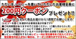 レビューを書くと200円クーポンをプレゼント!