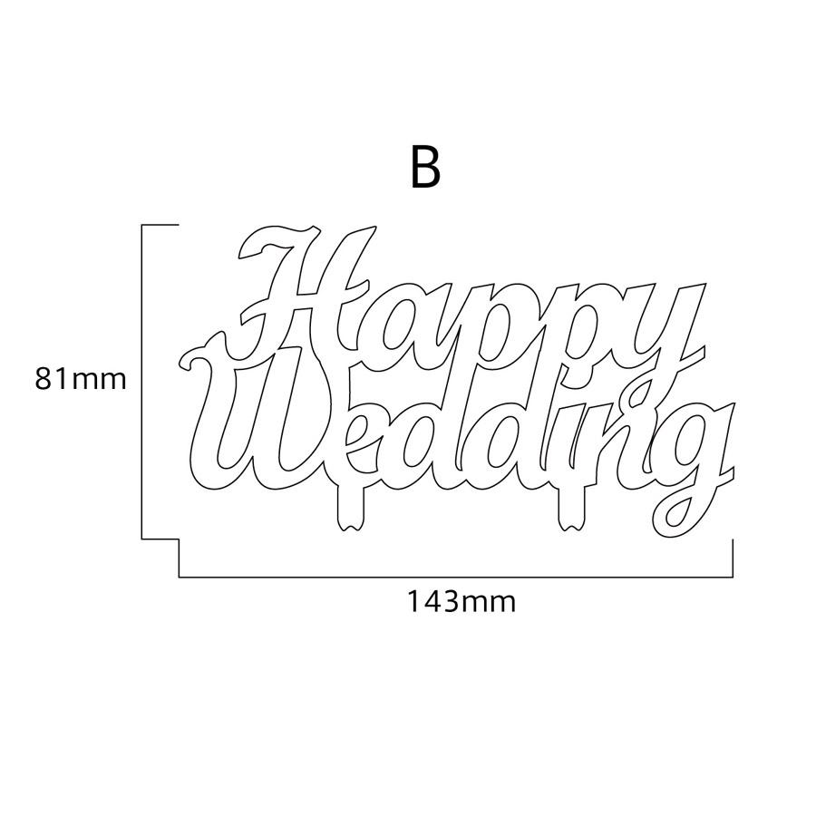 ひのきのメッセージプレートハッピー結婚式