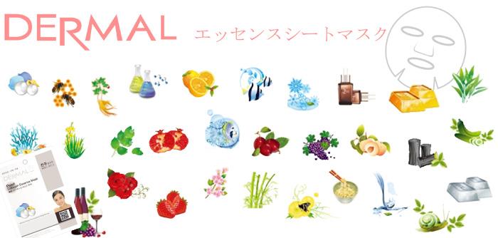DERMAL [ダーマル] エッセンスマスク16種/全31種