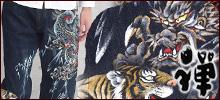 禅(ZEN)−京でん代表・竜田昌雄さんがプロデュースする京都発和柄ブランド。連綿と継承されてきた京友禅や染色の匠の技を、手描きジーンズや手染めTシャツなど、ファッションを通じて発信