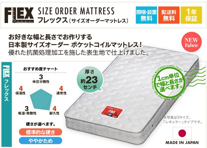 日本製サイズオーダーポケットコイルマットレス商品説明